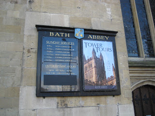 Bath Abbey (schedule/sign)